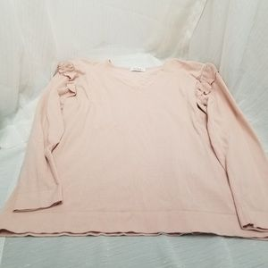 Calvin Klein Women's Ribbed Pale Pink Sweater